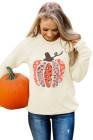 Толстовка-пуловер с изображением тыквы на Хэллоуин