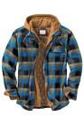 Doublure matelassée à carreaux bleus fausse veste deux pièces pour hommes