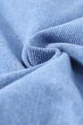 Chaquetas de mezclilla con botones desgastados azul cielo para hombre