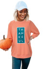 Sweat-shirt graphique THANKFUL Halloween Raglan orange