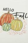 Белый свитшот с принтом тыквы с буквами на Хэллоуин