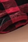 Свитшот с отложным воротником на молнии 1/4 в красную клетку
