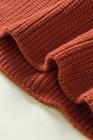 Jersey de punto corto con mangas de burbujas marrón