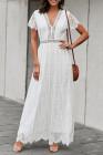 Кружевное макси-платье White Fill Your Heart