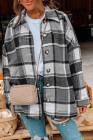 Серая куртка-рубашка на пуговицах с принтом в шотландскую клетку