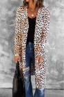 Lange Strickjacke mit Leopardenmuster