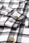 Повседневная клетчатая рубашка с пуговицами большого размера