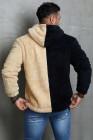 Sudadera con capucha Apricot Colorblock Fleece para hombre